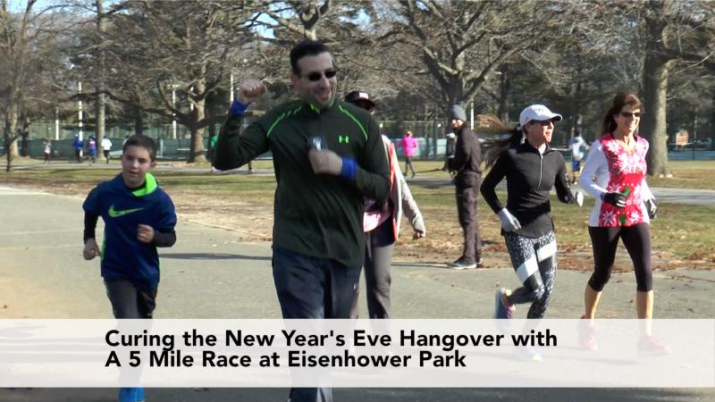 Curing the New Year's Eve Hangover with a 5 Mile race at Eisenhower Park
