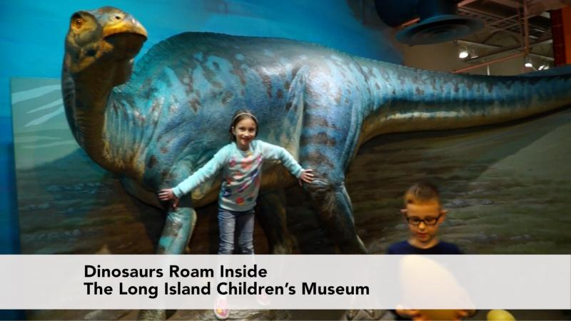 Dinosaurs Roam Inside The Long Island Children's Museum