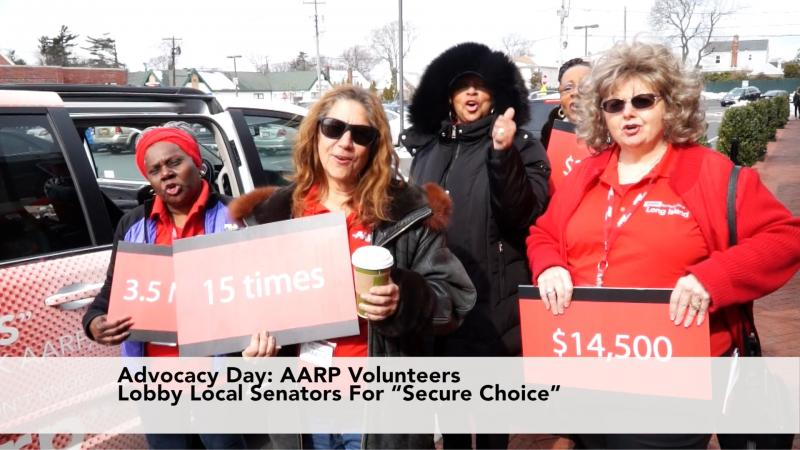 Advocacy Day! AARP Volunteers Lobby Local Senators